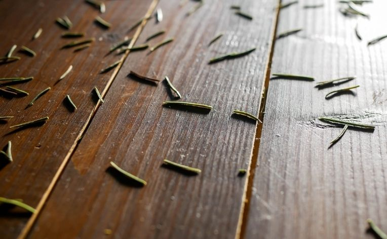 Pine Needles on Hardwood Flooring