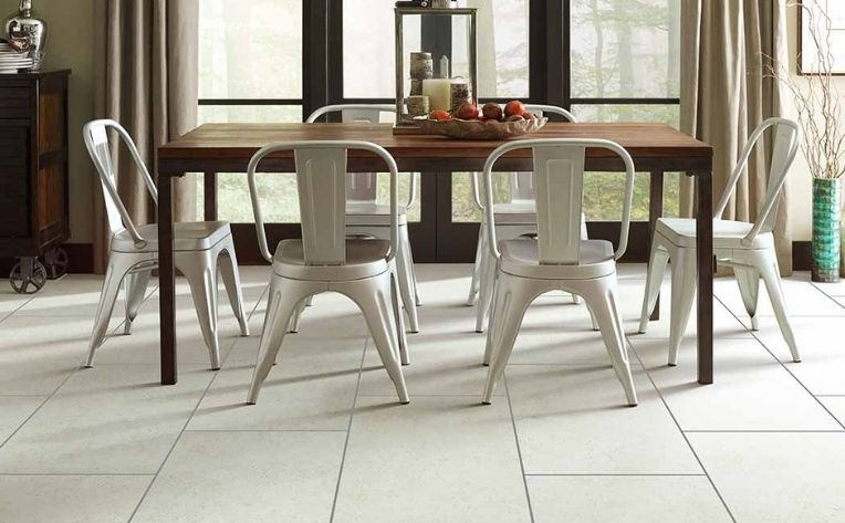 Tile Flooring Dining Room Setup